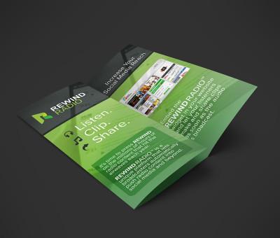 Rewind radio brochure