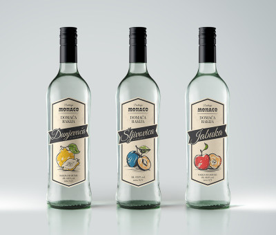 Labels for fruit liqueurs