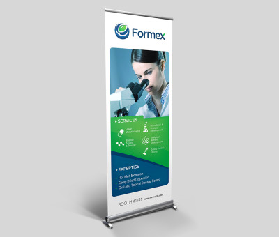 Formex roll-up banner